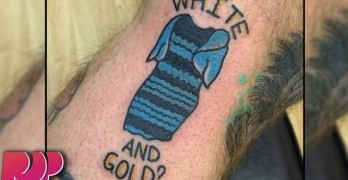 The Dress Tattooed On Man, Explanation Of Why It's Blue And Black