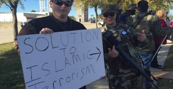 "Armed Protesters Demonstrate Against ""Islamization"""